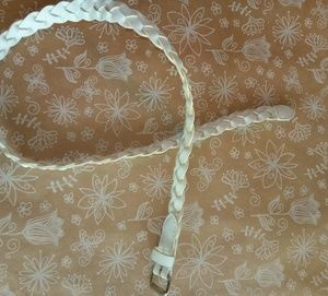 Girl's White Braid Belt